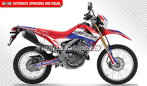 Kungfu Graphics Custom Decal Kit for Honda CRF250L CFR250M 2012 2013 2014 2015 2016 2017 2018, Blue White Red, Style - Honda Replica Graphic