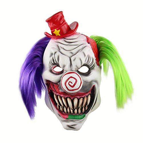 Horrific Demon Funny Monster Costume Vampire Cosplay Latex Halloween Scary Clown -