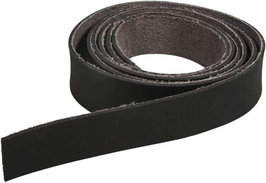 Rayher 83035576 - Cinta de piel sintética (138 x 2 cm), color negro