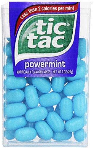 tic tac Powermint Singles, 1 Ounce (Pack of 12) (Swift Burn Spray)