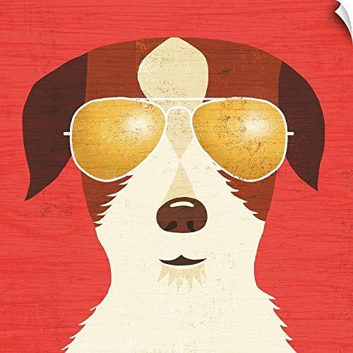 CANVAS ON DEMAND Beach Bums Terrier I Wall Peel Art Print, 35