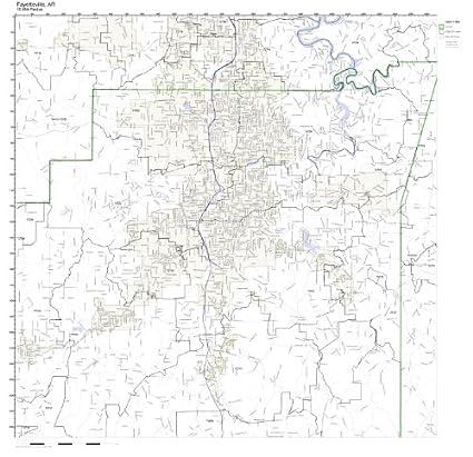 Amazon.com: Fayetteville, AR ZIP Code Map Laminated: Home & Kitchen