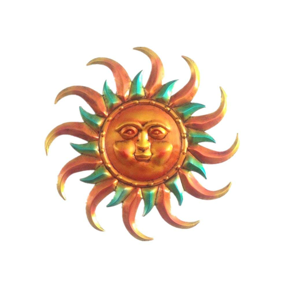 WANDERBAL HOME 15.7'' Sun Face Wall Decor for Indoor and Outdoor Use