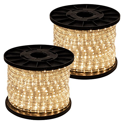 GotHobby 300' Warm White 2-wire LED Rope Light Flexible Home Outdoor Christmas Decorative by GotHobby