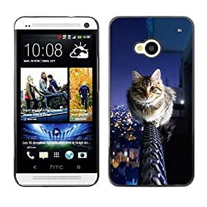 diy phone caseYOYO Slim PC / Aluminium Case Cover Armor Shell Portection //Cool City Cat //HTC One M7diy phone case