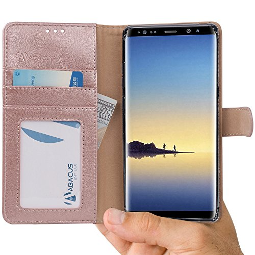 Abacus24-7 Samsung Galaxy Note 8 Case, Leather Wallet for sale  Delivered anywhere in USA