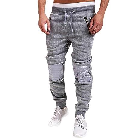 YanHoo Pantalones de chándal Ocasionales del algodón de ...