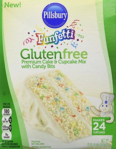 Pillsbury Funfetti Gluten Free Premium Cake & Cupcake Mix with Candy Bits