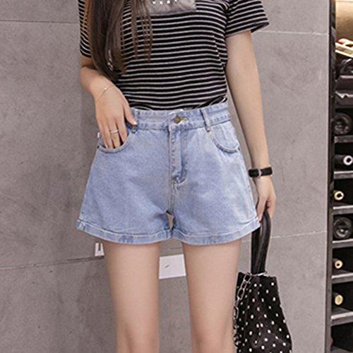 Vita Blu2 Delle Jeans Donne Sottili Pantaloncini Mengmiao Studenti Alta Allentano Selvaggi vIRRAxq