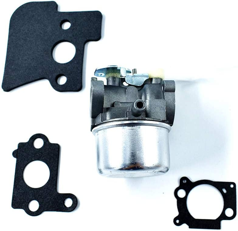 Carburetor for Briggs /& Straton 690152 694203 698055 Lawnmower Generator Used on 121600 and Up Series Engines Manuel Choke with Mounting Gaskets