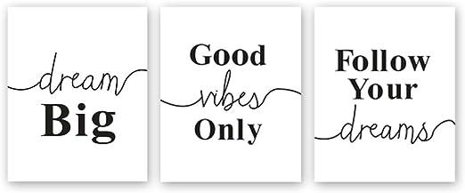 Amazon.com: Chsdec - Póster con letras de motivación en ...