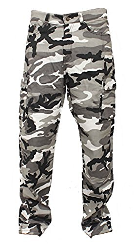 e99e8e25174e Newfacelook Mens Motorcycle Urban Jeans Pants Reinforced with Aramid  Protection I111 Camo W36-L32