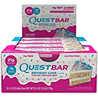 12-Count Quest Nutrition QuestBar Birthday Cake