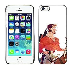 iBinBang / Funda Carcasa Cover Skin Case - Hero Horseman Cowboy White Red - Apple iPhone 5 / 5S