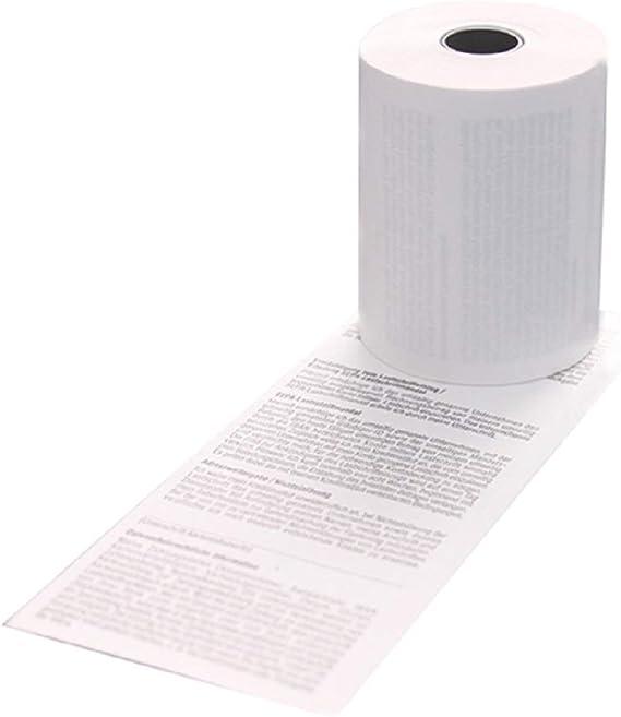 Thermorollen 80mm x 50m x 12mm 50 Thermo-Kassenrollen 80//50//12 HKR-Welt/® Bonrollen aus 48g//m/² Thermopapier