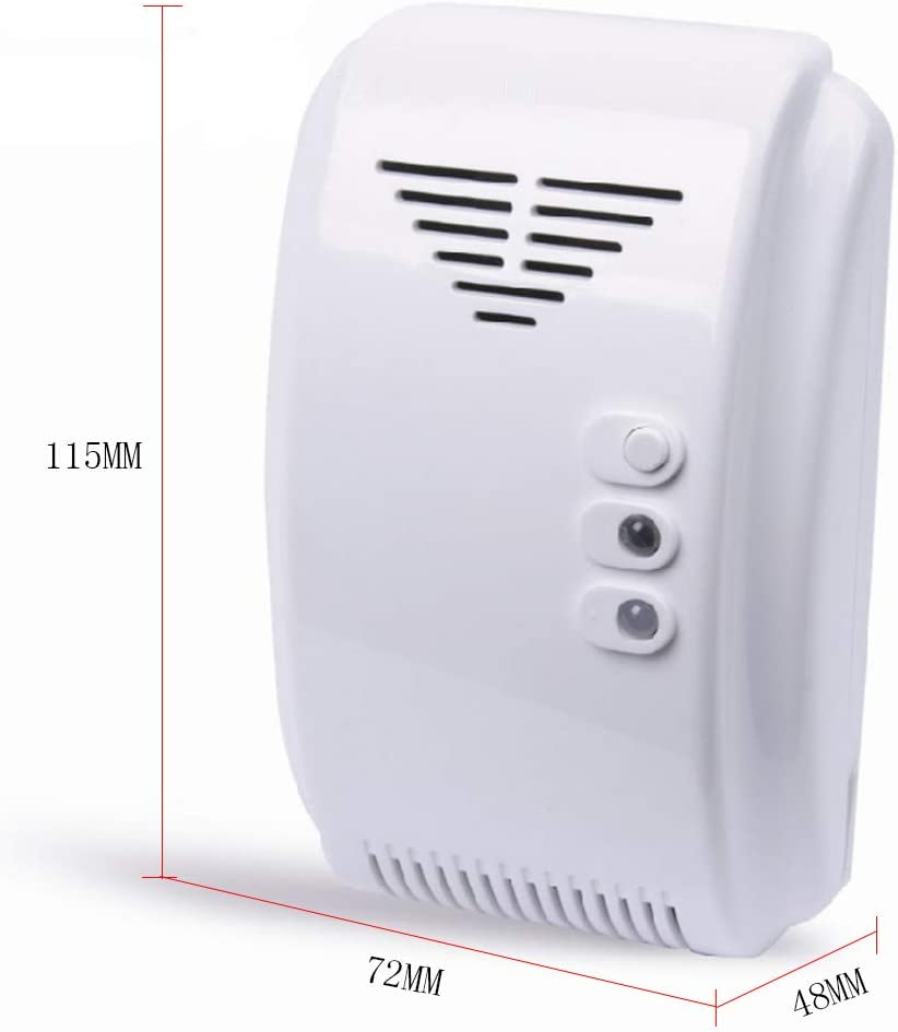 ER-NMBGH 12V Gas Detector Sensor Alarm with Have Sound and Light Alarm for Propane Butane LPG Natural Motor Home Camper RV Van Boat Marine