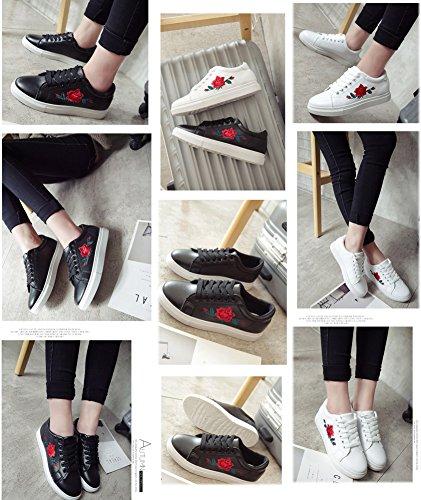Sneakers A Interior Scarpe Impermeabile Casual Nero Basse Minetom Donna Rose Fitness all'Aperto Stampa Adulto Primavera 4wqY8qxB