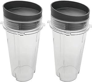 WAFJAMF Single Serve 16 OZ Blender Cup Set for NNJ-BL770,BL780,BL660 Professional Blender (Pack of 2),