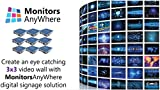 Network Video Wall - Create a 3x3 video wall to display your content! enabled by Monitors AnyWhere