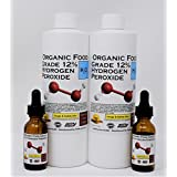 2 Pints Organic TNL 12% Certified Food Grade Hydrogen Peroxide + 2 Pre-Filled Dropper Bottles. Recommended by One Minute Cure & True Power of Hydrogen Peroxide. Shipped Fast. Made is USA