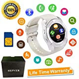 Smart Watch SN08 Smart Watches Round with Touch Screen Camera SIM Card...