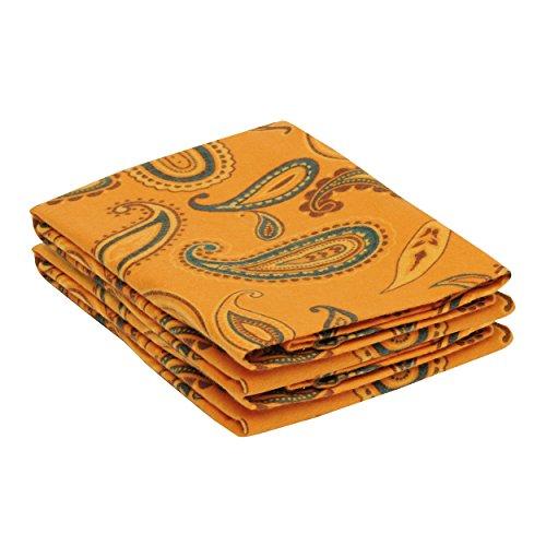 - Superior Premium Cotton Flannel Pillowcases, All Season 100% Brushed Cotton Flannel Bedding, Pillowcase Set of 2 - Pumpkin Paisley, Standard Pillowcases