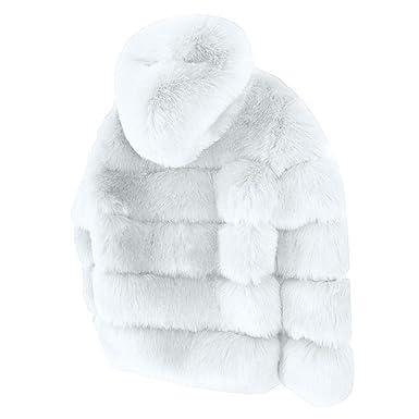 ❤ Abrigos Cortos de visón para Mujer, con Capucha de Invierno Chaqueta de Piel sintética Chaqueta de Abrigo Gruesa y cálida Absolute: Amazon.es: Ropa y ...