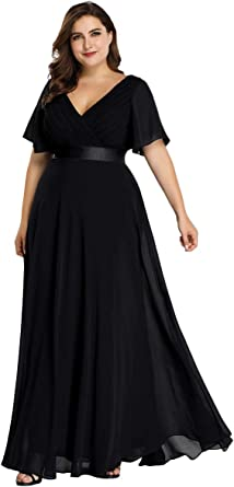 plus size black long dress