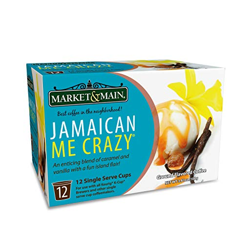 - Market & Main OneCup, Jamaican Me Crazy, Compatible with Keurig K-cup Brewers, 12 Count