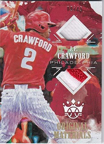2018 Panini Diamond Kings Original Materials #OM-JC JP Crawford #OM-JC NM Near Mint MEM 9/49