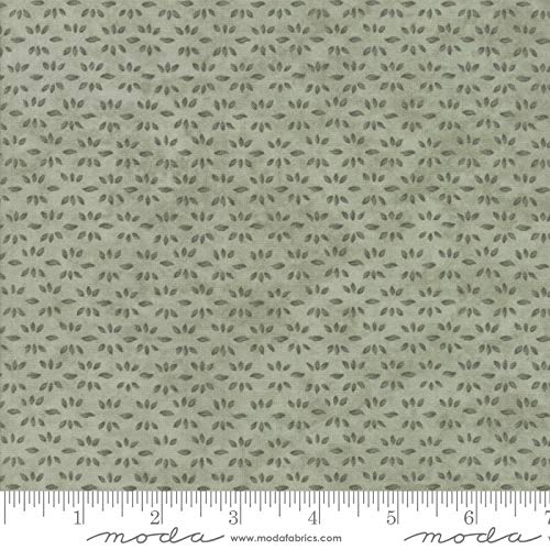 United Notions & Moda Fabrics Prairie Grass by Holly Taylor Quilt Fabric Leaf Print Pepper Grass Style 6756/22