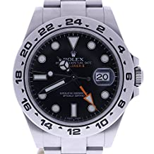 Rolex Explorer II automatic-self-wind mens Watch 216570BKSO (Certified Pre-owned)
