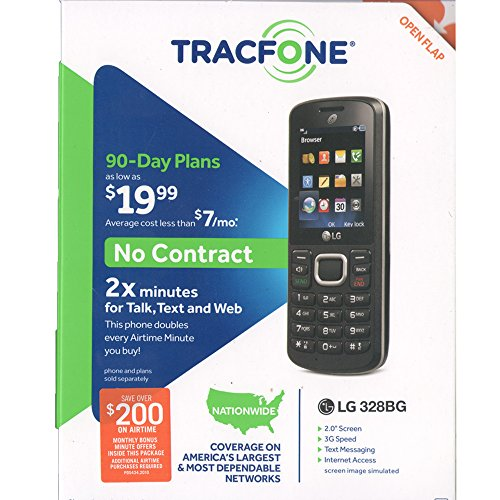 Tracfone L328 Prepaid Carrier Locked   1 7Inch Screen   0Gb   Black  U S  Warranty