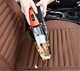 Fochutech Car Vacuum Cleaner Wet Dry Four in One DC 12V 100W Handheld Auto 14.76FT/4.5M Power Cord Mini Tire Inflation Pressure Monitoring LED HEPA (Green)