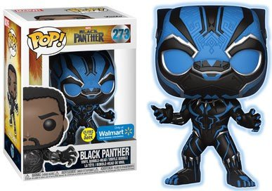 Funko Pop Marvel: Black Panther - Glow in Dark Walmart Exclu
