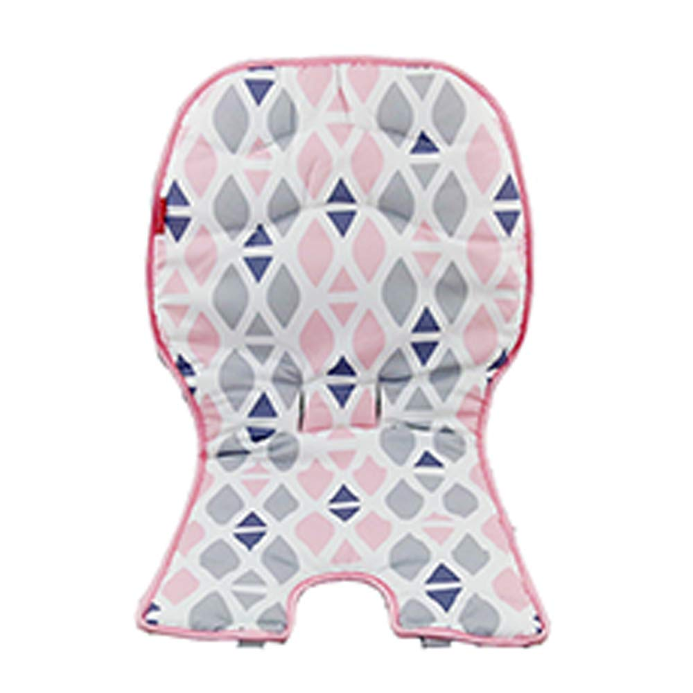 Replacement Pad for Fisher-Price High Chair - SpaceSaver Highchair DRF76 ~ Includes 1 Replacement Seat Cover in Pink, Gray and White