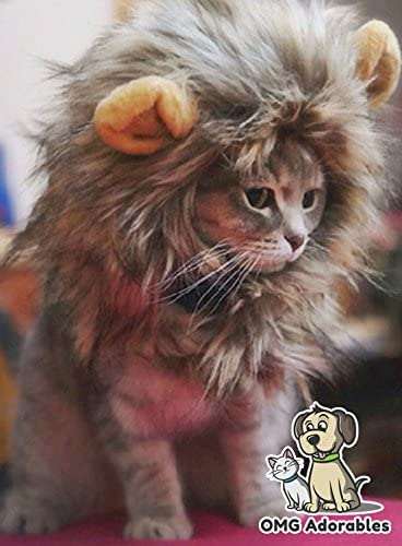 OMG Adorables Lion Mane Costume for Cat 20