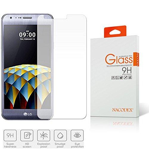 LG X Cam Glass, Nacodex for LG X Cam Glass Screen Protector - [1pcs] Premium Tempered Glass Screen ()