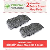 Crucial Vacuum 2 Bissell Steam Mop Zebra Print Deluxe Microfiber Mop Pad Fits Bissell Steam Mop model 1867, Compare to Part # 203-2158, 2032158, 3255, 32525