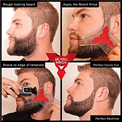 La Beard Ninja – Plantilla de barba | Barba gestaltung Herramientas | Styling vorlage. Barba Former modela Plantilla para perfecta Simetría. Trimmed y ...