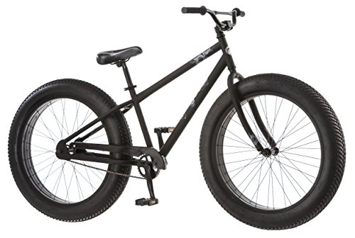Mongoose Beast Men's Fat Tire Bicycle, Black, 26″ Top Deals