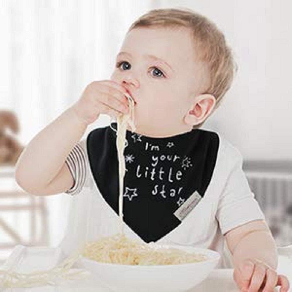 6 Pezzi Bavaglino Bambino Neonato Bandana Assorbente Bambini Bavaglini Morbido in Cotone Regolabile con Bottoni a Pressione 0-3 anni
