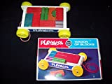 Wagon Of Blocks 1972 Vintage Wooden Block Set By Playskool
