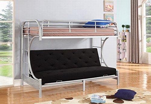 NHI Express Jordan Over C Futon Metal Bunk Bed, Twin, ()