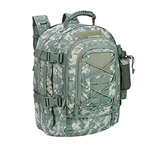 40L Outdoor Expandable Tactical Backpack Military Sport Camping Hiking Trekking Bag (ACU 08001A) by ARMYCAMOUSA