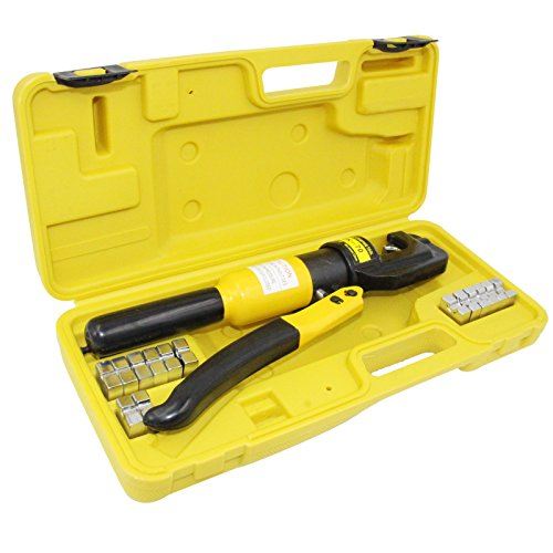 PENSON CAYQK007010 Hydraulic Wire Battery Cable Lug Terminal Crimper Crimping Tool, 9 Dies, 10 Ton (Battery Cable Size compare prices)