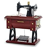 Vintage Music Box Mini Sewing Machine Style Mechanical Birthday Gift Table D??cor