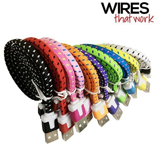 Wires That Work 3366956 Braided Nylon 8 Pin to USB Lightning