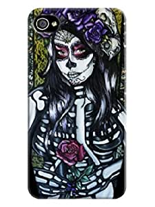 Accurate Store iphone 5c Beautiful Skull Arts Case Cover LarryToliver #5
