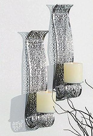 Wandkerzenhalter Silber